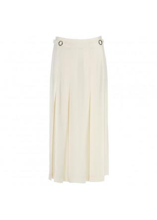 womens skirt semicouture cream white