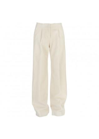 womens trousers semicouture cream white