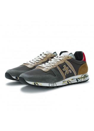 mens sneakers premiata eric grey beige brown