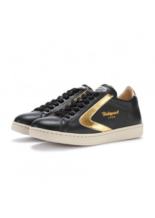womens sneakers valsport tournament black gold