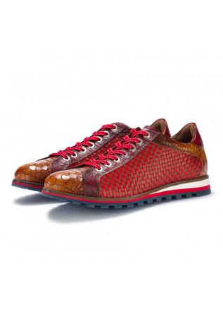 herrensneakers lorenzi fresh braun rot