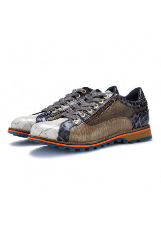 mens flat shoes lorenzi fresh grey multicolor