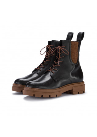 womens lace up ankle boots mjus black brown