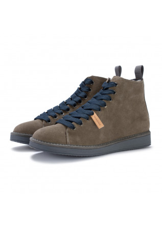 mens lace up ankle boots panchic grey blue