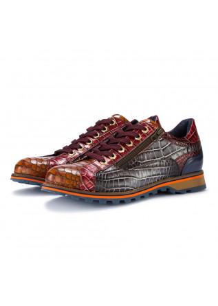 scarpe allacciate uomo lorenzi marrone multicolor