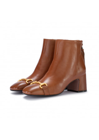 heel ankle boots mara bini seta castoro brown