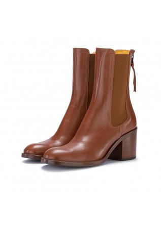 heel boots mara bini guanto cuoio brown