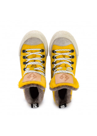 """WOMEN'S ANKLE BOOTS BNG REAL SHOES   """"LA YETI"""" YELLOW"""