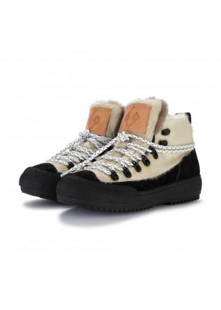 damenstiefeletten bng real shoes la yeti weiss schwarz