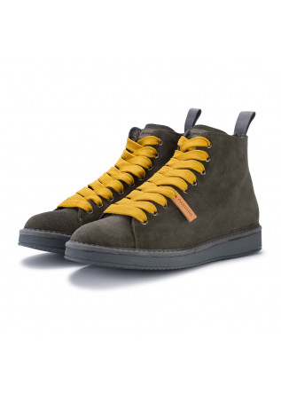 mens ankle boots panchic khaki green yellow