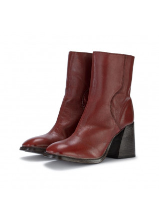 heel ankle boots moma montone lux red