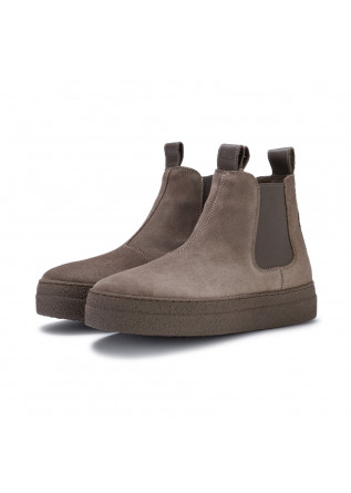 womens chelsea boots oa non fashion evolo taupe grey