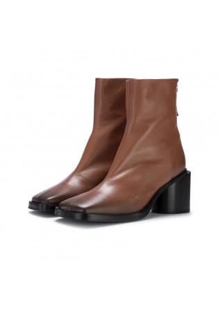 stivali tacco donna halmanera linda marrone