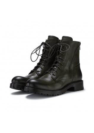 womens lace up boots manovia52 milled dark green