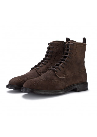mens lace up ankle boots manovia52 challenger brown