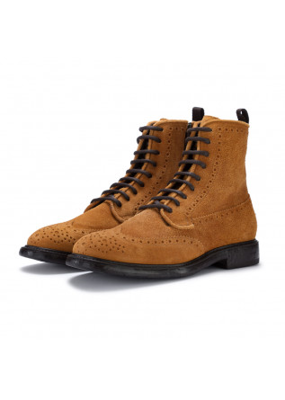 mens lace up ankle boots manovia52 challenger yellow