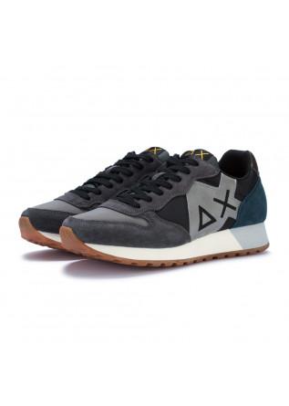 mens sneakers sun68 jaky black grey blue