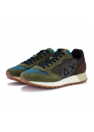 mens sneakers sun68 jaky brown olive green