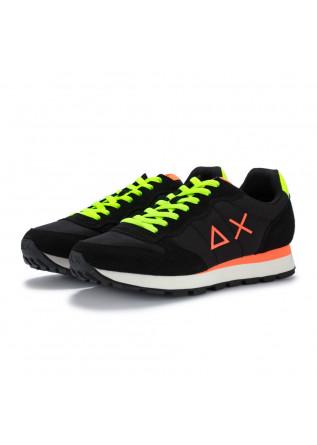 mens sneakers sun68 tom fluo black yellow orange