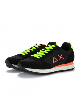 sneakers uomo sun68 tom fluo nero giallo arancione
