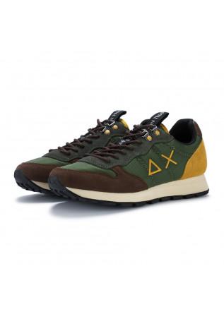 sneakers uomo sun68 tom goes camping verde marrone