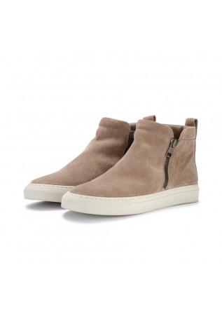 womens ankle boots manovie toscane sara zip beige