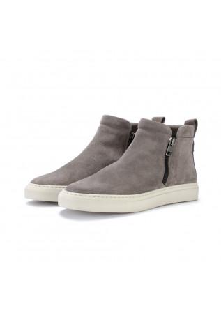 womens ankle boots manovie toscane sara zip grey