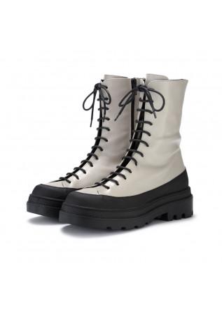 womens lace up boots sofia len pixel beige black