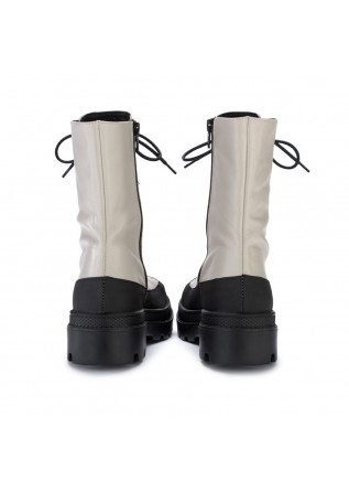 WOMEN'S LACE UP BOOTS SOFIA/LEN | 318 PIXEL ICE WHITE BLACK