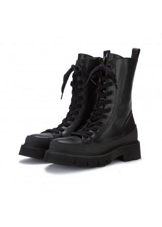 womens lace up boots donna mara bini black