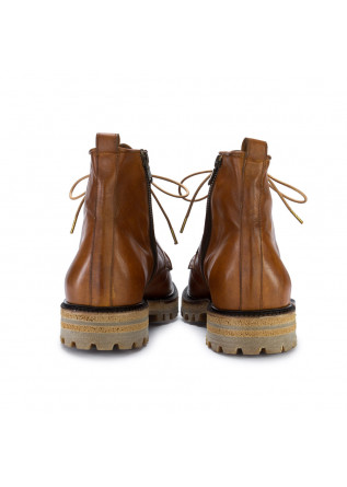 MEN'S LACE-UP ANKLE BOOTS MAN.TO | VAIL HONEY BROWN