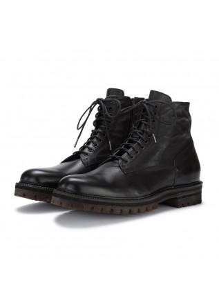 mens lace up boots manto phantom black