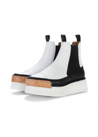 womens chelsea boots bng real shoes la diva white black