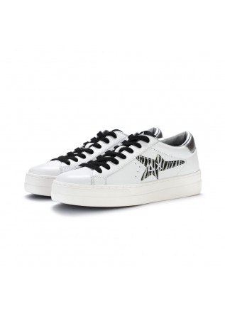 sneakers donna sun68 betty bianco argento