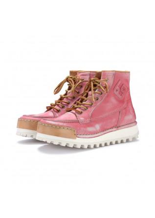 stivaletti allacciati donna bng real shoes la yankee rosa