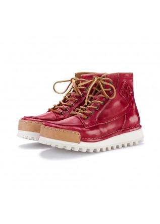 stivaletti allacciati donna bng real shoes la yankee rosso