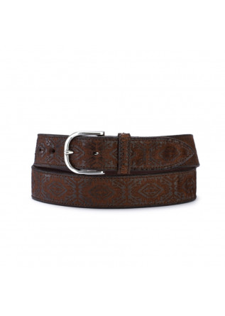 men's belt orciani cutting brown