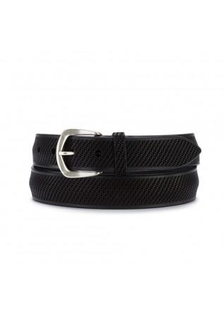 mens belt orciani bull soft black