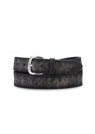 mens belt orciani camouflage deep black