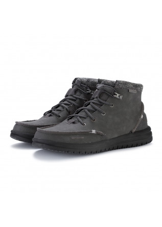 mens lace up ankle boots hey dude bradley grey