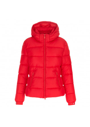 womens puffer jacket save the duck mega tess red