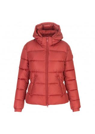 womens puffer jacket save the duck mega tess orange