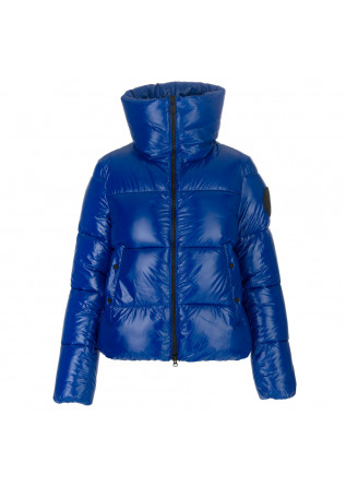 womens puffer jacket save the duck luck isla blue