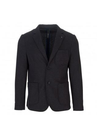 mens jacket distreto12 geo blue brown