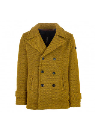 mens jacket distretto12 peacoat blasius yellow
