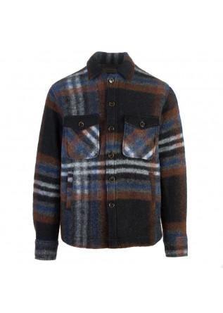 mens jacket tintoria mattei 954 brown black grey