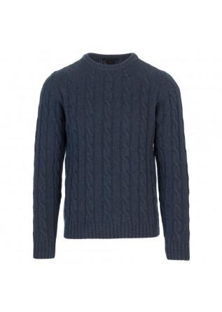 mens sweater daniele fiesoli peacock blue