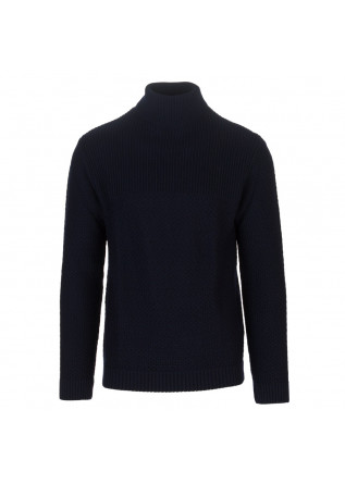 maglione uomo daniele fiesoli dolcevita blu scuro
