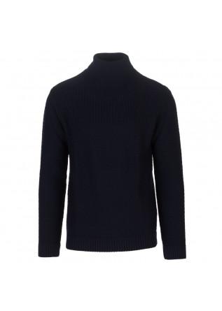 mens sweater daniele fiesoli turtleneck dark blue