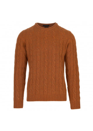 mens sweater daniele fiesoli orange cable knit